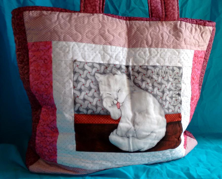 Bolsa Em Tecido Patchwork Feminina Com Alça Para Os Ombros : Bolsa em patchwork gatinho thaisa lima